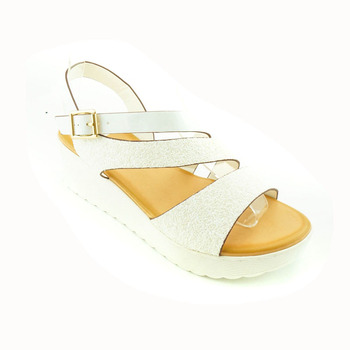 1dc38a17c184 2018 New Fashion fancy Latest Model Summer Shoes Series Cheap PU Woman  Wedge Sandal for Ladies