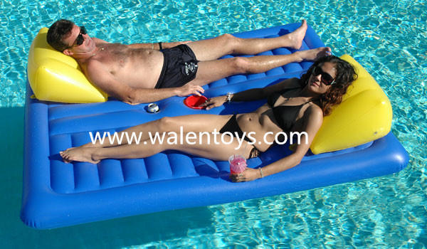 Chinese Supplier Inflatable Designer Mattress Floating Lounger Swimming Pool  Chair Float