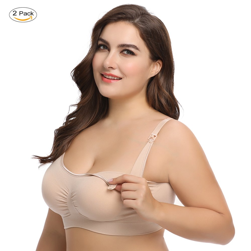 7486406b6 Get Quotations · LYSHION Nursing Bra - Full Bust Seamless Nursing Maternity  Breastfeeding Bras with High Elasticity and Width