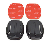 New Sport Camera Accessories Base 2X Flat mount VHB Adhesive Sticky for GoPro Hero 4 3+ 2 1 SJ4000 SJ5000 Xiaomi Camera GP12
