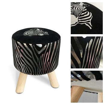 Miraculous Factory Price Anti Skidding Feet Pad Fabric Round Ottoman Wooden Stool With 3 Wood Legs Buy Wooden Stool Product On Alibaba Com Andrewgaddart Wooden Chair Designs For Living Room Andrewgaddartcom