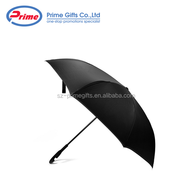 "Custom Logo Double Layer 23 "" Inverted Reverse Umbrella With C Handle"