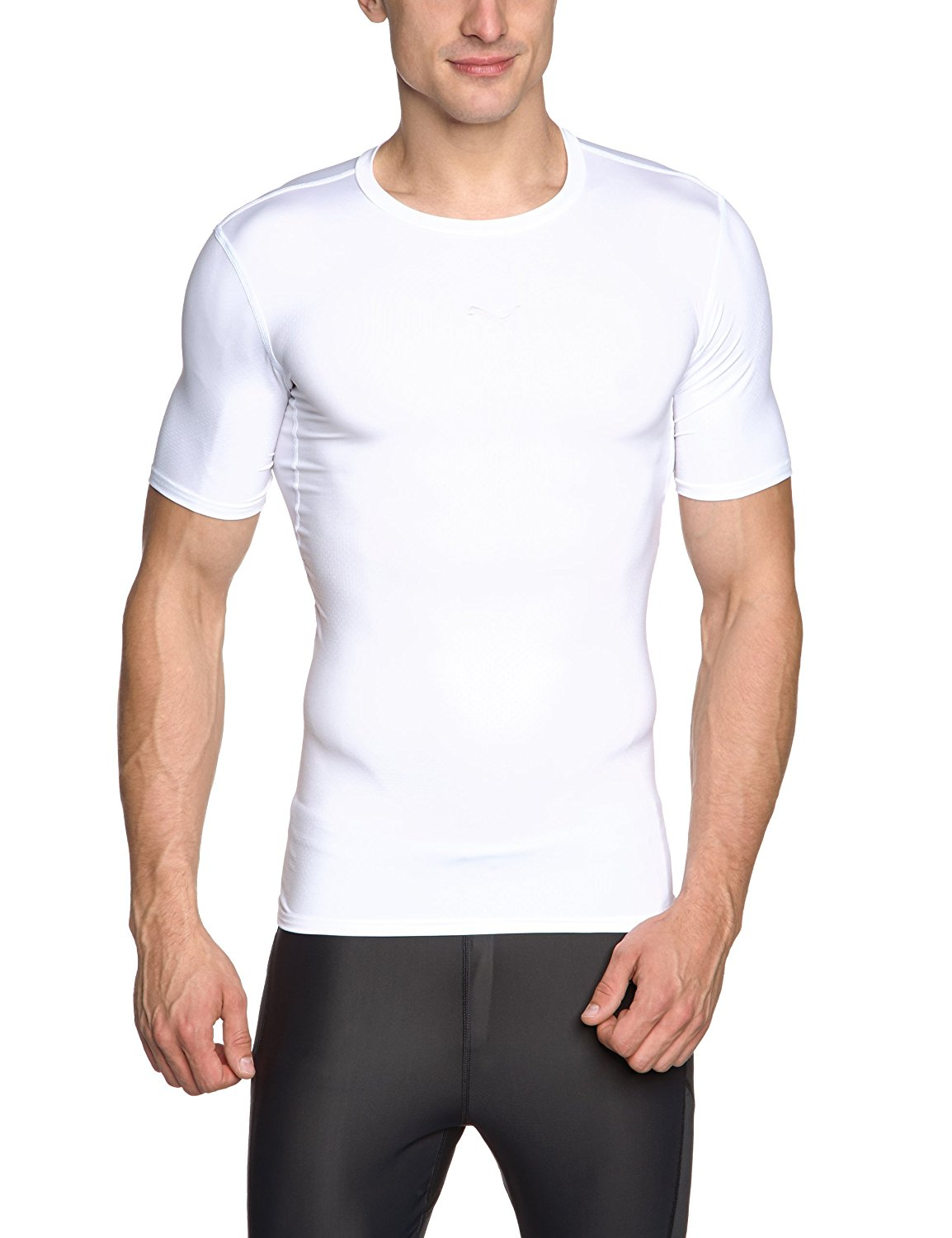 2dfbebded890 Puma PB Core Tee Shirt Baselayer White Short or Long Sleeve
