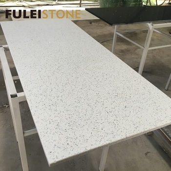 Best Quality Cheap Price White Sparkle Quartz Stone Dining Table Top