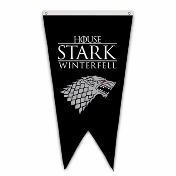 Winterfell House Stark Wall Sign Territory Banner Burgee