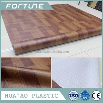Pvc 2mm Thick Cover Vinyl Wood Laminate Flooring Sheet Office