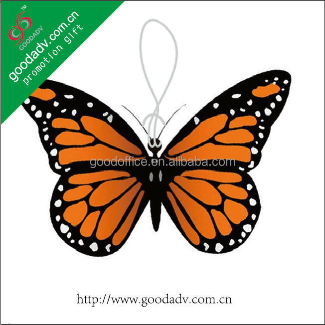 Made in China advertising logo mini car butterfly air refresher for sale