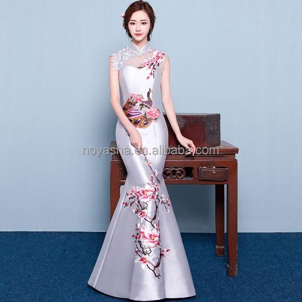Venta al por mayor vestidos de novia chino color rojo-Compre online ...