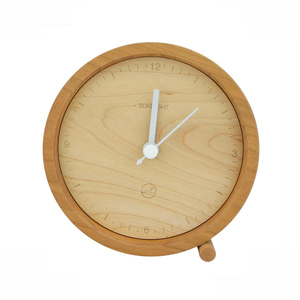 Fashion Handmade Natural Wooden Home Decor Simple Table Clock