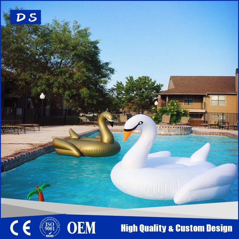 Inflatable floating swan, custom swan swimming pool floats