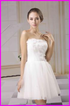 2015 guangzhou hot selling short length tulle wedding for Guangzhou wedding dress market