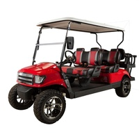 CE Approved high quality 4 wheels 6 seats luxury golf cart for sale