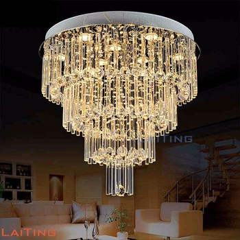 Big crystal chandelier round design plastic covers lamp ceiling big crystal chandelier round design plastic covers lamp ceiling light 92043 aloadofball Images