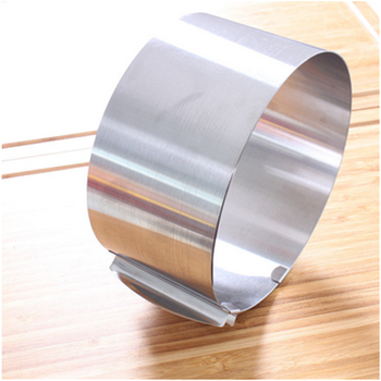 Stainless steel Adjustable cake mold Round Mousse Cake ring