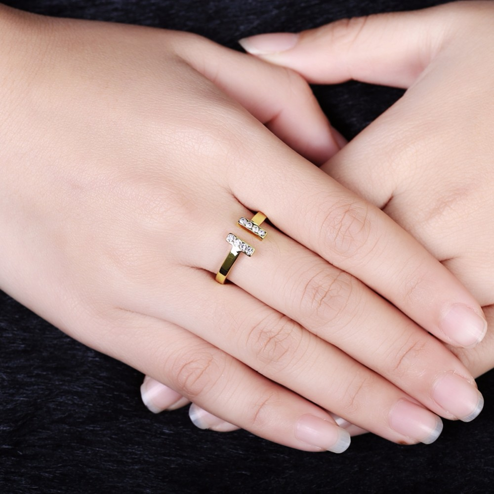 Simple Style Diamond Wedding Rings Yellow 1 Gram Gold Plated Rings ...