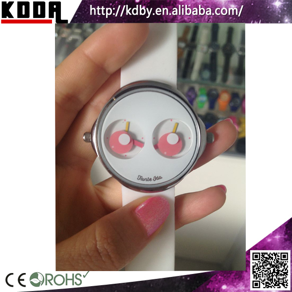 China Suppliers Cute Style Two Eyes Two Movement Dual Time 2time ...