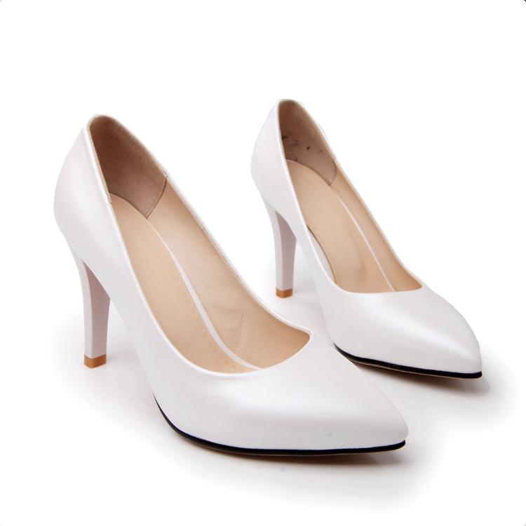 White Formal Heels