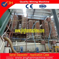 800 tph large capacity spiral chute for zircon ore heavy mineral separation