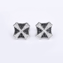 Jewelry supplies fashion cross geometric zircon stud earrings