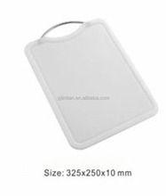food grade material healthy kitchen vegetable and fruit chopping board metal handle cutting board