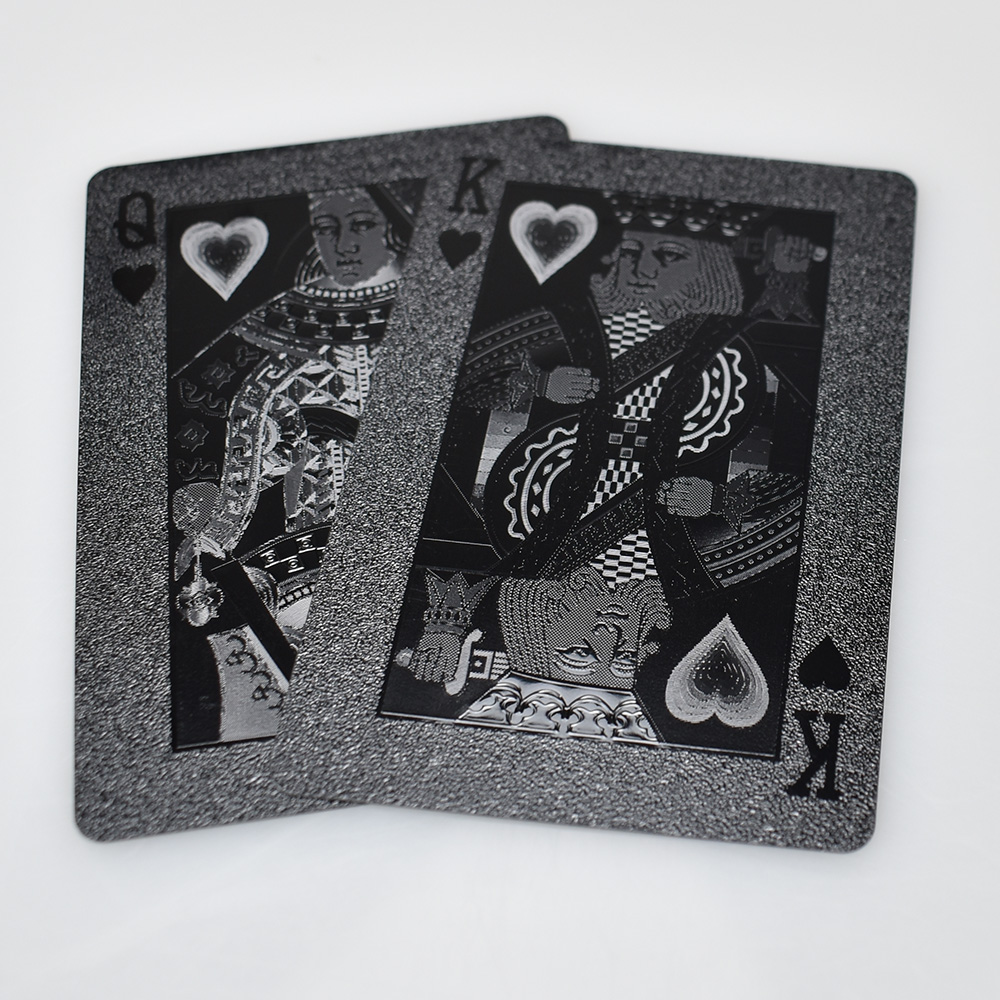 Hot sell black Radiation Lines Design Playing Card For Gift