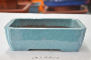 China good look handmade Ceramic bonsai pot 24*17*7.5cm