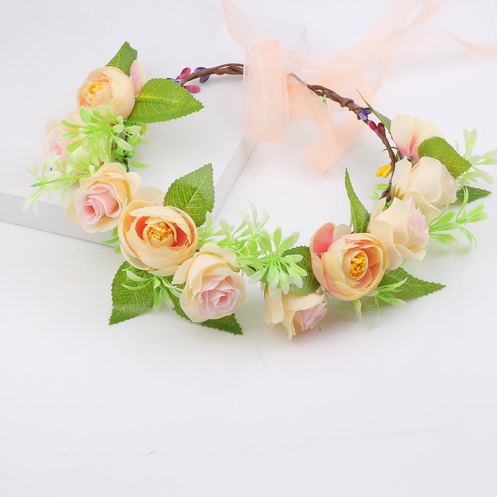 Children Garlands Crown Of Flowers For Hair Wreath Garland Headband