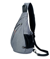 OEM Durable 600D Polyester Strong Bicycle Backpack Shoulder Sling Bag with Single Strap