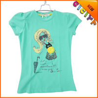 Wholesale new summer top fashion printing designs teen girl t shirt