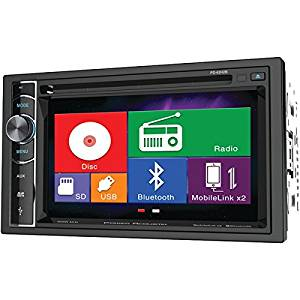 "POWER ACOUSTIK PD-62H2B 6.2"" Double-DIN In-Dash LCD Touchscreen DVD Receiver with Bluetooth(R) & MHL(R) MobileLink X2 PET2"