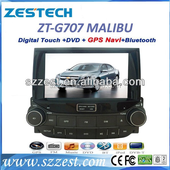 ZESTECH China Factory HD touch screen double din autoradio navigation head unit gps for Chevrolet Malibu