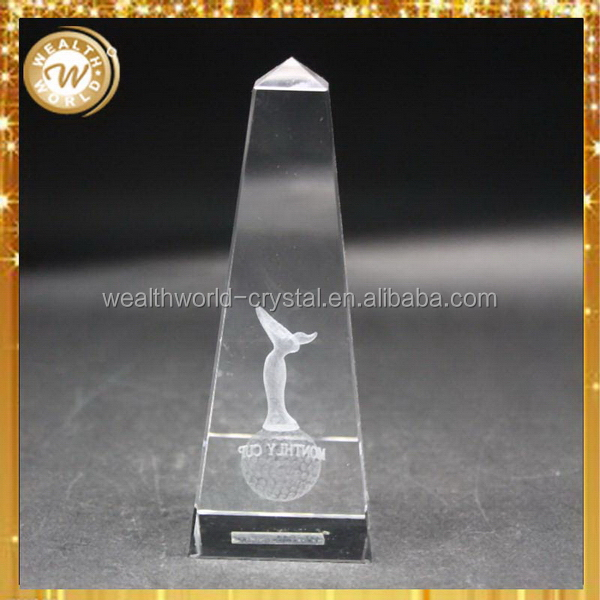 Excellent quality Crazy Selling golf ball crystal sport trophy cup no