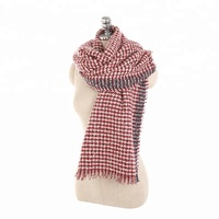 Hot New European And American Autumn And Winter Fashion Wild Thick Warm Houndstooth Cashmere Wool Scarf Shawl Wholesale