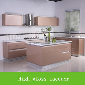 Desain Kabinet Dapur Microwave Alas Tiang Unit