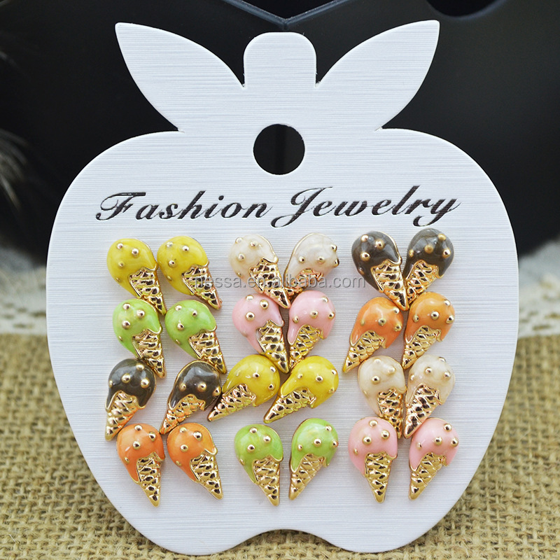 Fashion ice cream fancy stud earring wholesale NSLY-0002