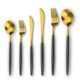 wholesale Gold /Black plated stainless steel cutlery set