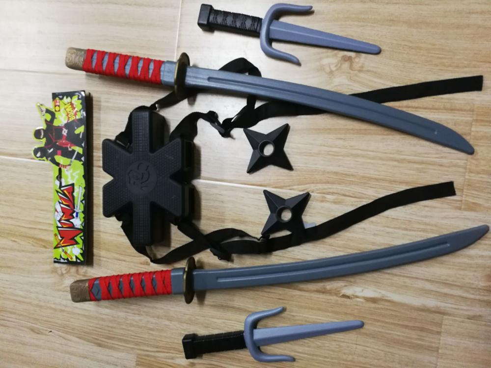 One X Samurai Ninja Noir épées une épée Kids Play Jouet Cadeau robe fantaisie