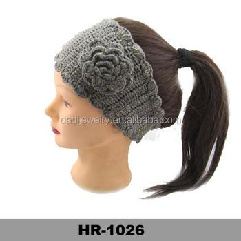 Mode Breite Gestrickte Blume Stirnband/häkeln Haarband - Buy Blume ...