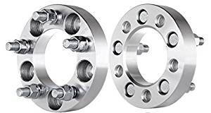 "ECCPP Wheel Spacers 2PCS 1"" 5x127(5x5) to 5x127 Fit for 2007 2008 2009 2010 Jeep Commander Grand Cherokee Wrangler with Thread Pitch 1/2"""