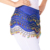 Wholesales 3 Rows Bells Decoration Belly Hip Scarf Women Wrap Mini Skirt Chiffon Bollywood Costumes Belt