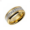 Gold Tungsten And Diamond Wedding Crystal Vintage Bands Rings