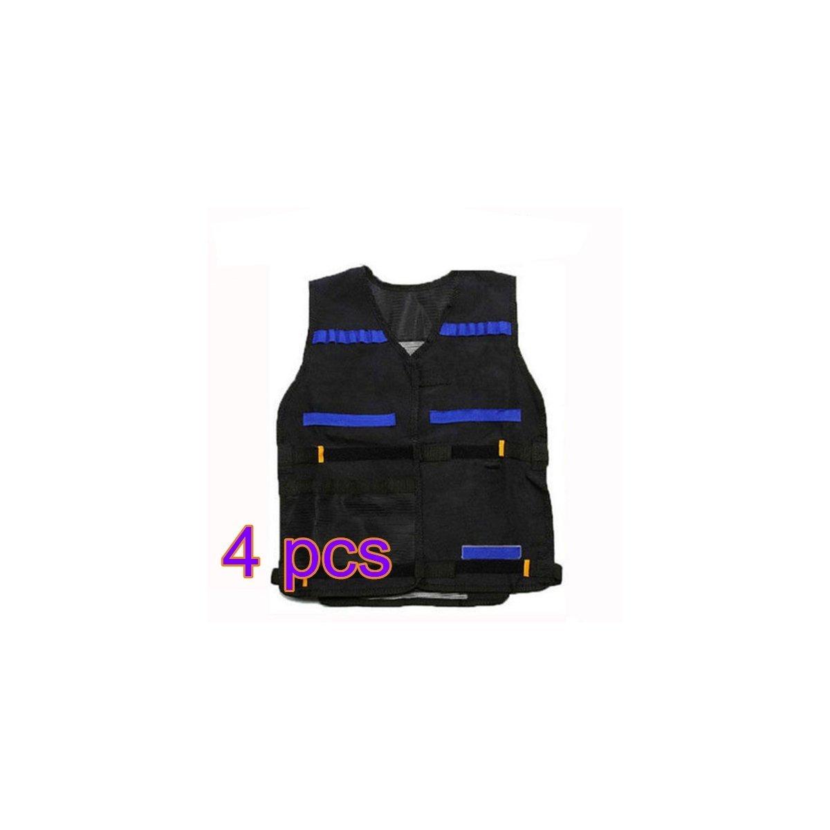 OULII Tactical Vest Adjustable for Nerf N-Strike Elite Battle Game gifts for men, Pack of 4