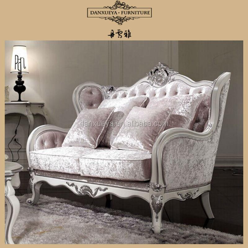 Luxury French Home Furniture, Living Room Sofa 2 Seater Sofa KJ 01#