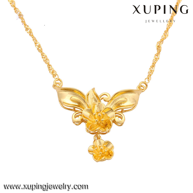 Xuping dubai gold 24K costume jewels captivating style necklace for women