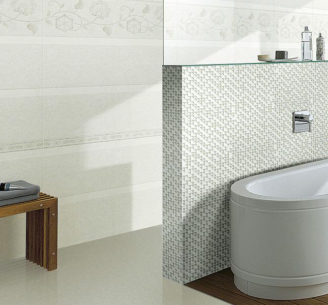 white crystal glass mosaic tile