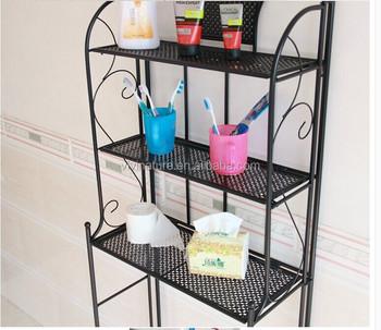 Metal 3 Shelf Bathroom Storage Organizer Spacesaver Towel Over Rack Toliet
