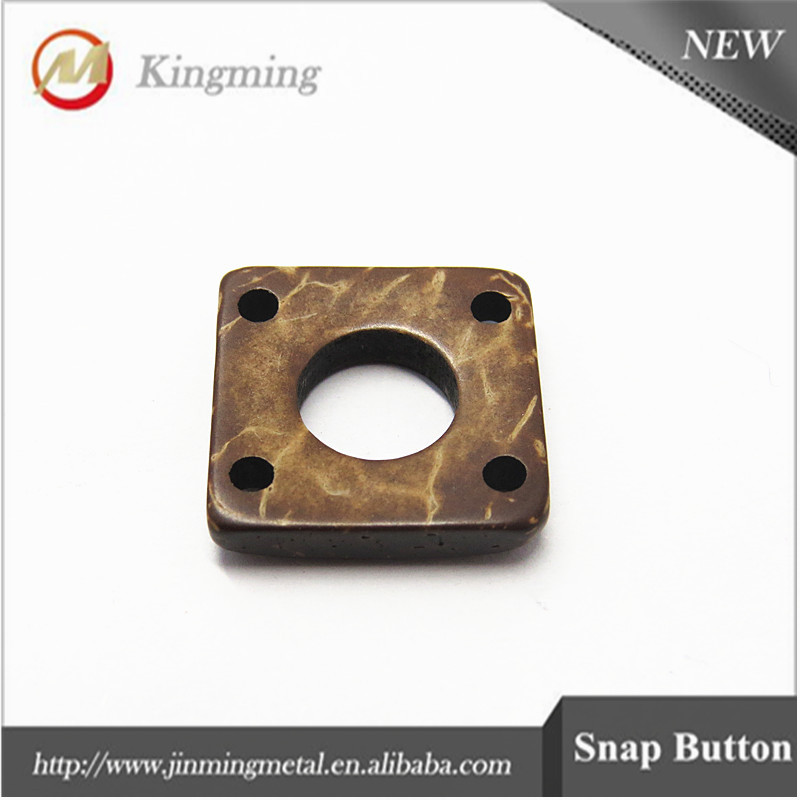 Custom Square Wood Shirt Garment Buttons For Garment