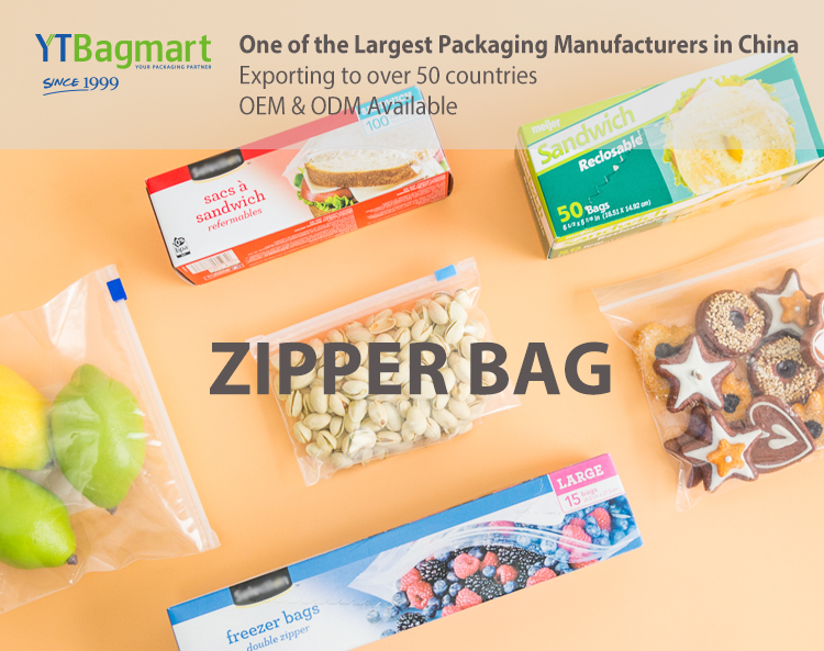 Ldpe Clear Makeup Cosmetic Zipper Poly Bag Plastic Shoes Clothing Packaging Reusable Ziplock Bag
