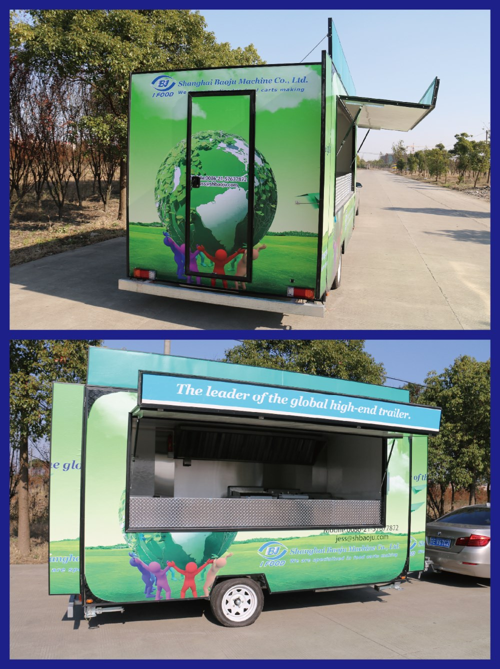 FV 55 Food Truck For Sale Malaysia Cheap Trailer Hot Dog Cart