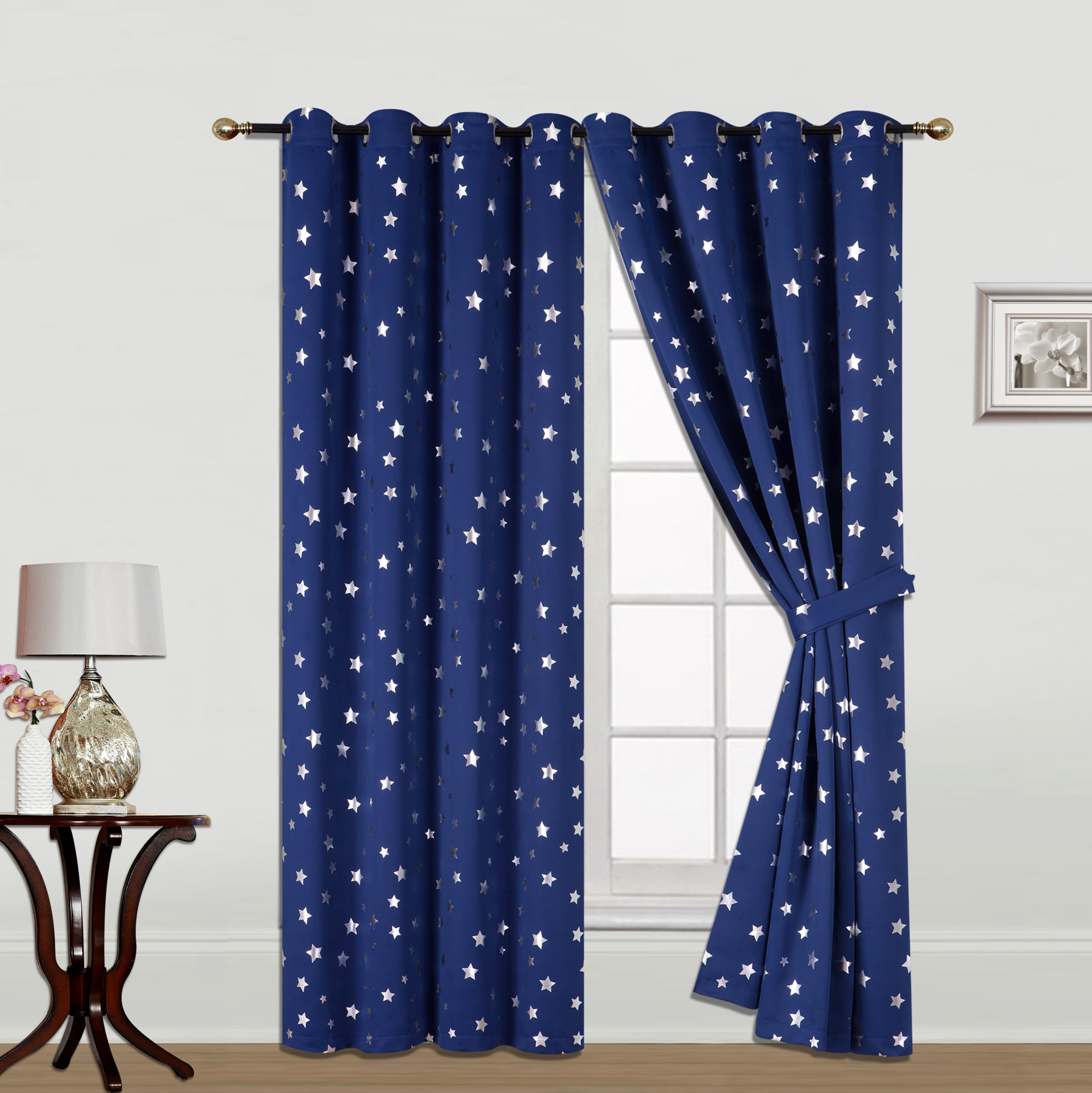 Star Foil printing Blackout curtain fabric
